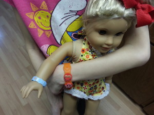 American Girl Doll With Food Allergy Bracelet