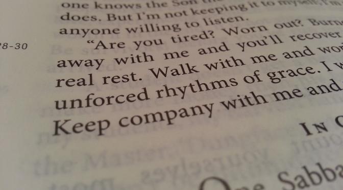 Week 6 Verse – Matthew 11:28