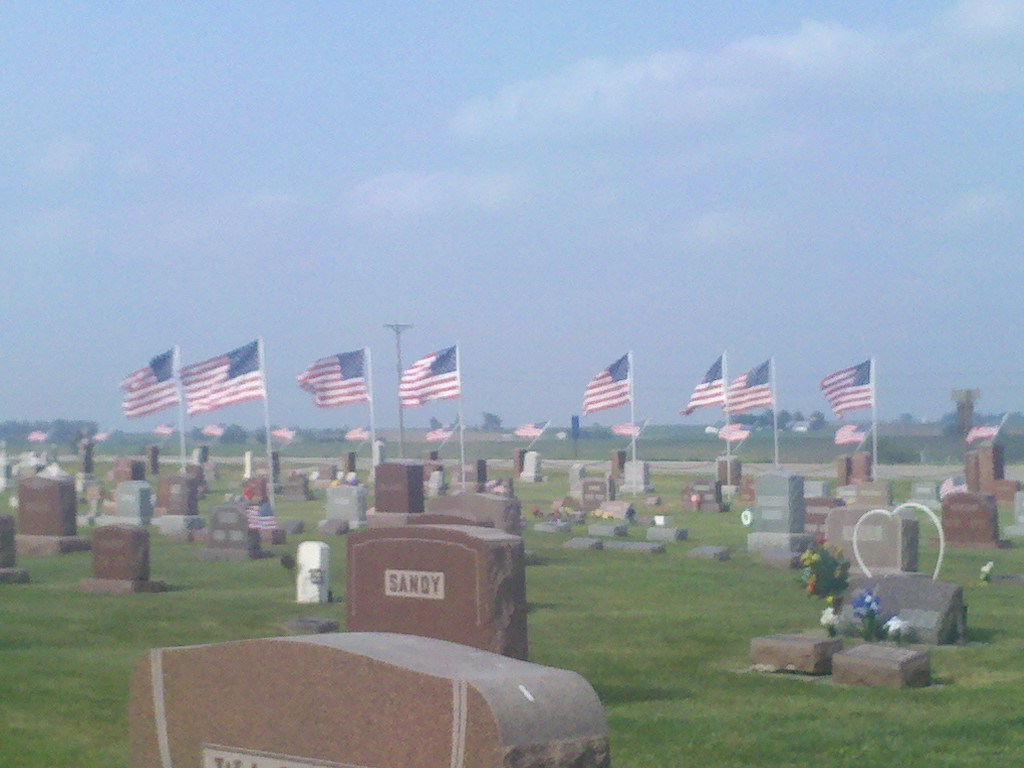 Memorial Day Flags in Cemetary