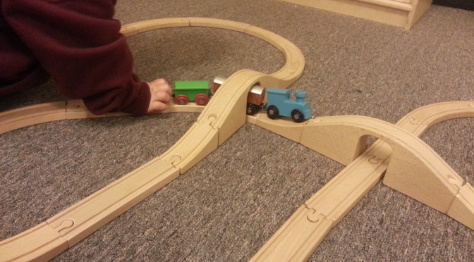 Toy Trains Trump Technology