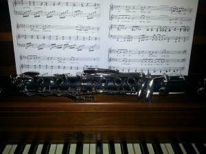 Sheet Music, Piano, and Clarinet