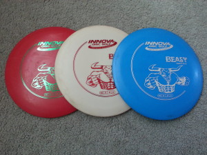 Red White and Blue Disc Golf Dics