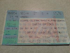 Garth Brooks Ticket Stub