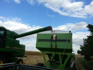 Harvest Combine and Wagon