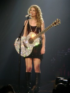 Taylor Swift with Sparkly Guitar