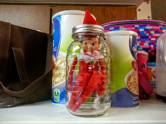 Elf on the Shelf in a jar