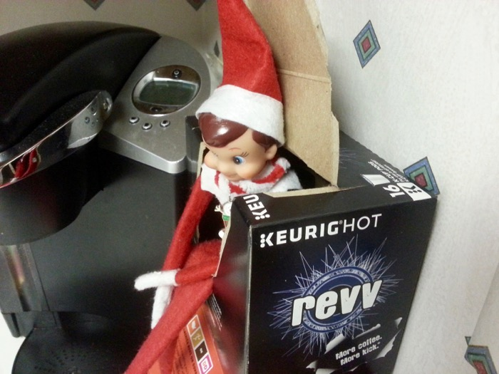 Guess our Elf on the Shelf didn't want me to have revv today!