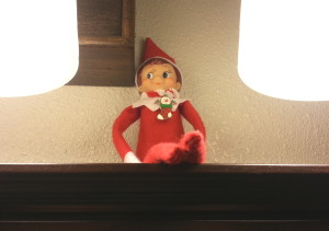 Elf on the Shelf keeping watch
