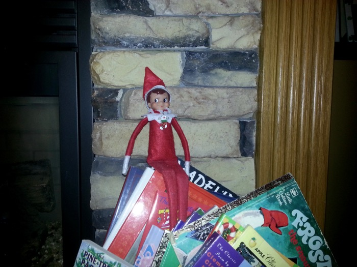 Fred spent some time today reading Christmas books.
