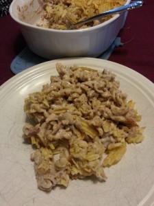 Tuna Noodle Casserole on Plate