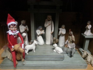 I don't remember an elf in the Nativity Story.