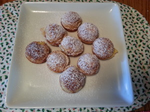 Aebelskivers with powdered sugar