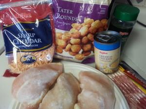 Cheesy Chicken Tator Tot Casserole Ingredients