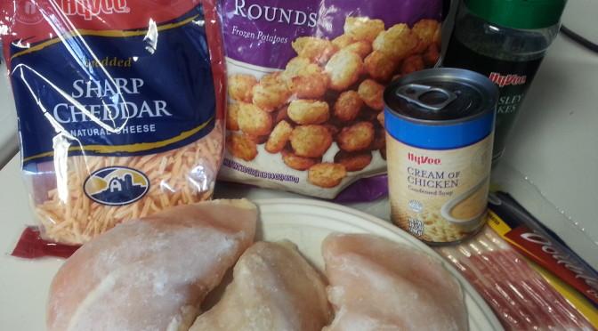 Cheesy Crock-Pot Chicken Bacon Tater Tot Casserole