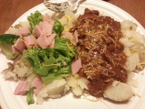 Baked Potato Plated