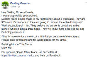 Casting Crowns FB Post