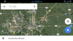 Google Navigation Screenshot