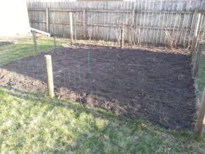 Garden worked up