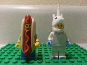 Hot Dog & Unicorn Lego Minifigures