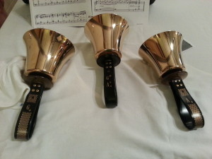 Handbells and Sheet Music