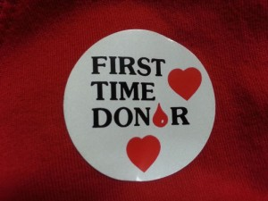 First time blood donor sticker