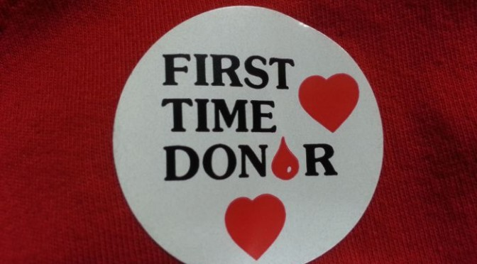 Donating blood for the first time faith family and technology this is what matters to me