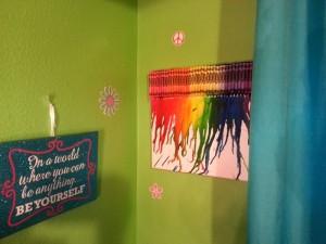 Finished Crayola Crayon Wall Art