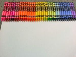 Glued Crayola Crayon Wall Art