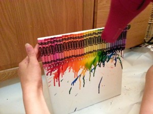 Making Crayola Crayon Wall Art