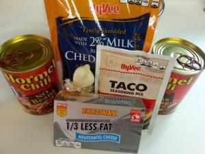 Chili cheese dip ingredients