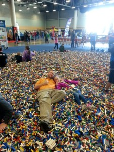 Laying in the Lego brick pile