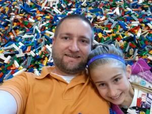 Lego Brick Pile Selfie