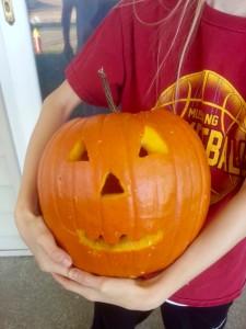 Carved jack-o-lantern
