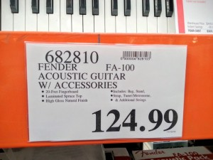 Fender in store price tag