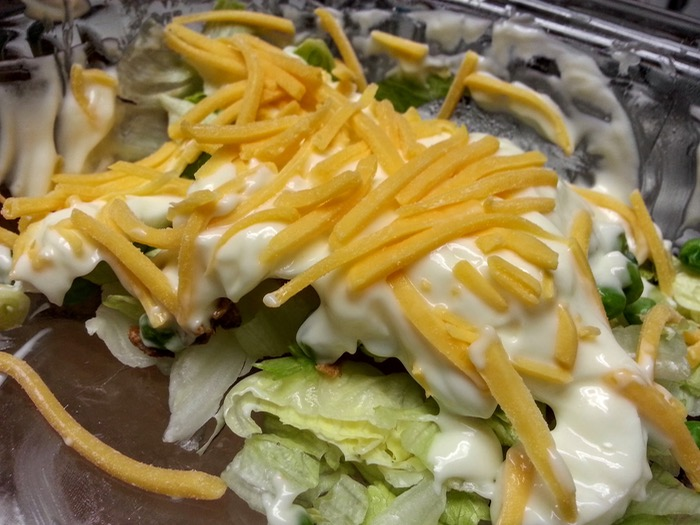 7 Layer Salad Serving