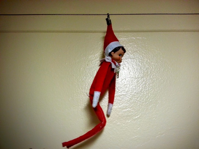 Ziplining is fun if you're an Elf on the Shelf!