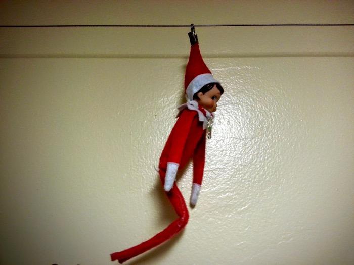 Ziplining is fun if you're an Elf on the Shelf!