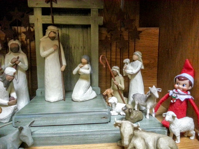 Not sure there was an Elf on the Shelf in the original Nativity.