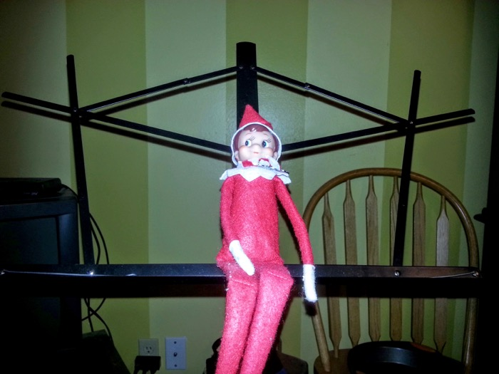 Our Elf on the Shelf must also be a Music Man!