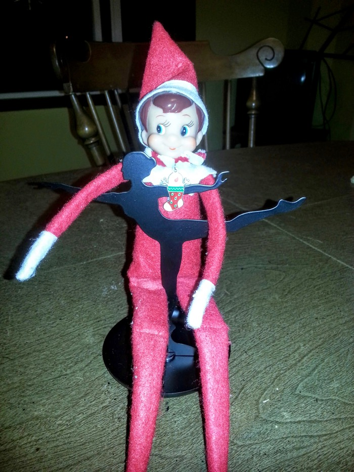 Elf on the Shelf with Dance stand