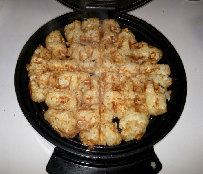 Tator tot waffle