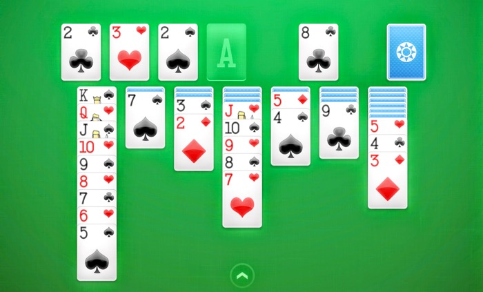 Playing Solitaire on a smartphone
