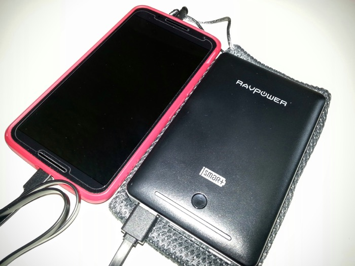 RavPower Battery Pack Charging Nexus 6