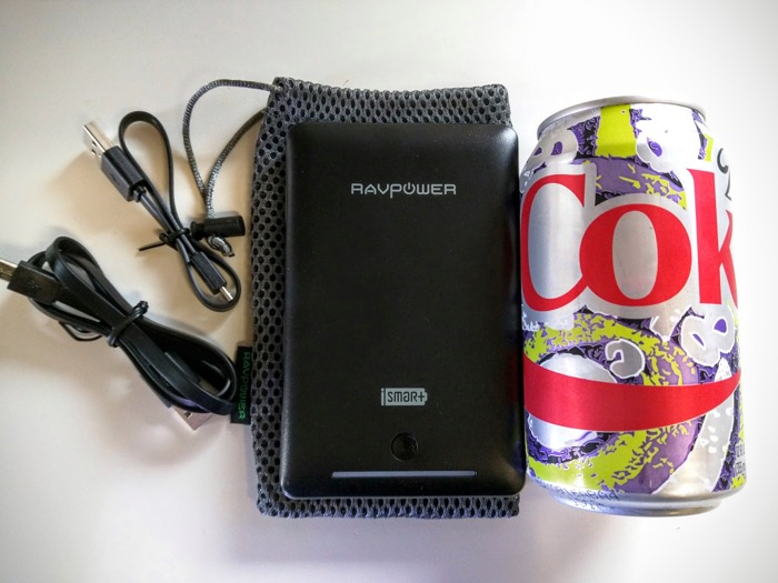 RavPower Battery Pack Compared To Coke Can
