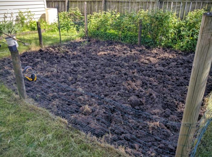 Garden dirt turned over