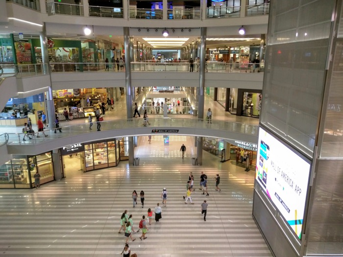 Mall of America Interior View of Center Atrium