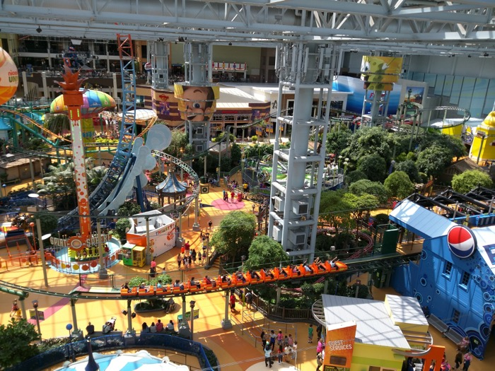 Nickelodeon Universe View From Ferris Wheel