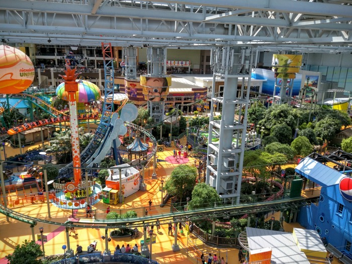 The new Nickelodeon Universe in the American Dream at Meadowlands mega-mall in New Jersey will be the largest indoor theme park in the U.S.