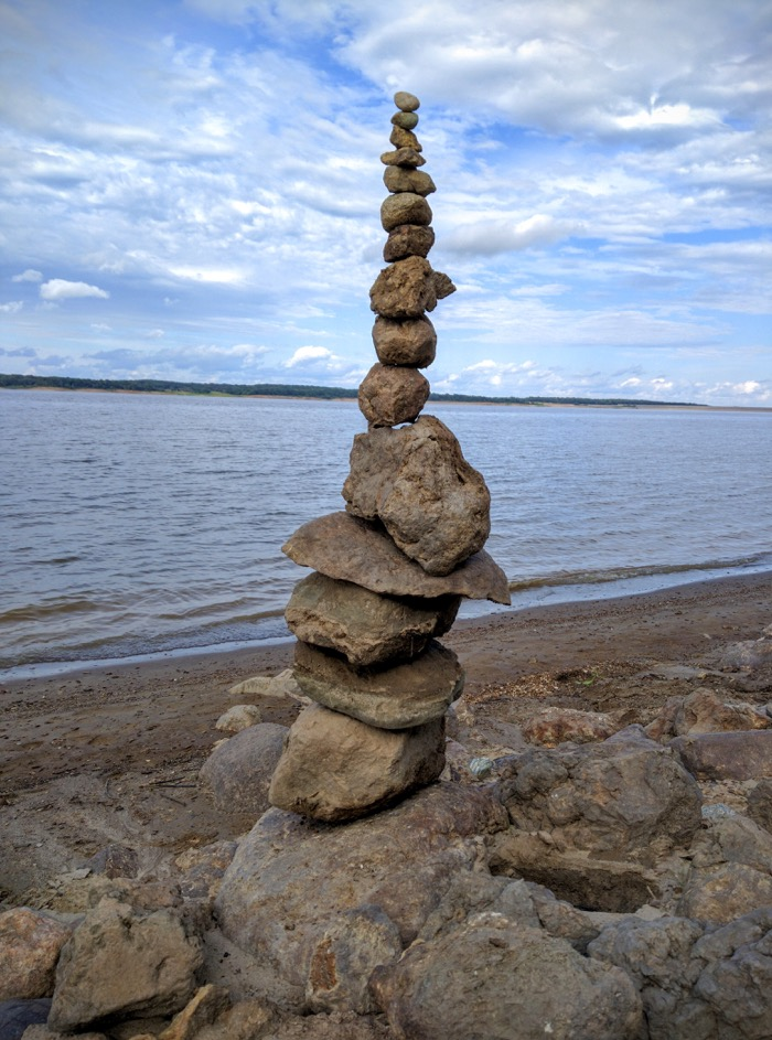 Rock Tower on Lakeshore