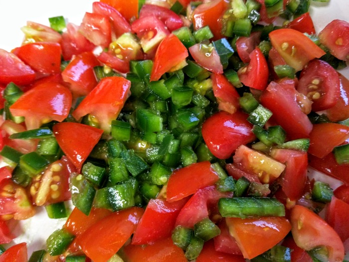 Diced jalapenos and tomatoes